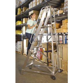 Extra heavy duty aluminium warehouse steps