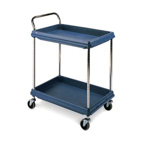 Deep ledge trolleys with 2 blue shelves 984 x 689mm