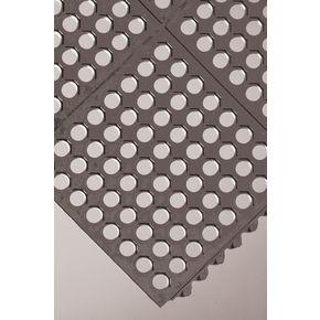 Rubber interlocking floor tiles - Grid surface