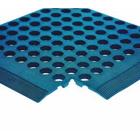 Nitrile rubber anti-fatigue mats - Blue, grease proof