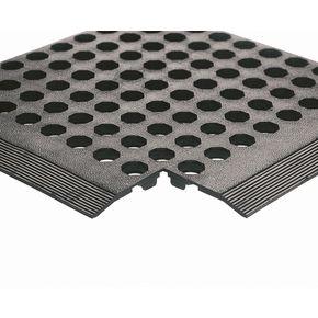 Rubber worksafe mats - Black, general purpose.