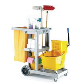 Multi-purpose cleaning trolley complete with bag