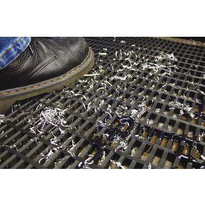 Heavy duty open grid PVC matting - 5m Roll - Black in two widths