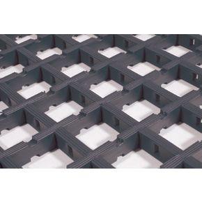 Open grid PVC matting - 10 metre roll - Choice of two widths  - Black