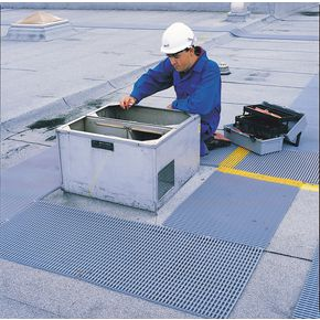 Slip resistant PVC roof walkway matting, 10m x 910mm width