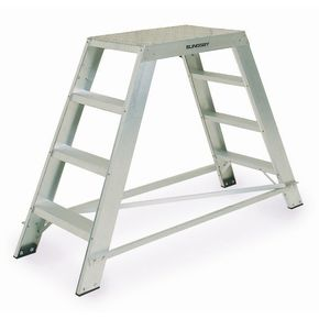 Heavy duty aluminium platform steps - double sided