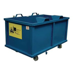 Automatic dumping skip - With castors