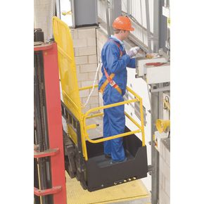 Folding access safety platform