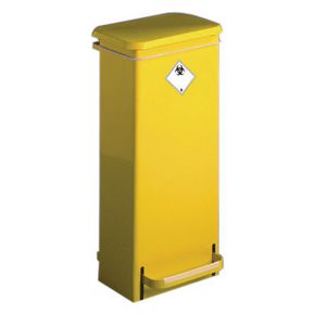 Fixed bodied fire retardant clinical waste sackholder