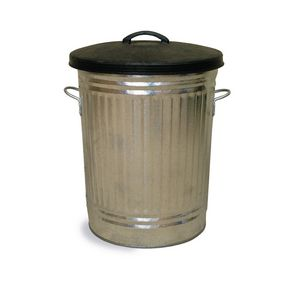 Galvanised dustbins with rubber lid