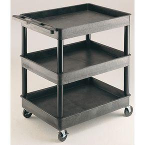 Heavy duty plastic trolleys, capacity 175kg with 3 trays