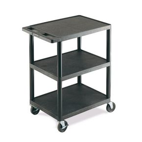 Light duty plastic trolleys with 3 shelves