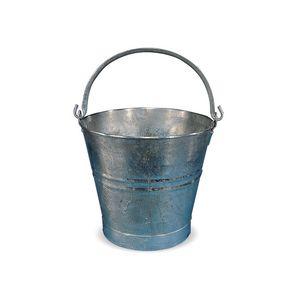Galvanised metal bucket