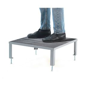 Adjustable steel work platforms - Rubber tread - in a choice of 4 platform sizes and 2 heights