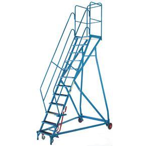 Heavy duty mobile safety platform steps