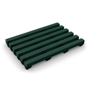 Heronrib® PVC leisure safety matting - Green, 10m x 500mm roll