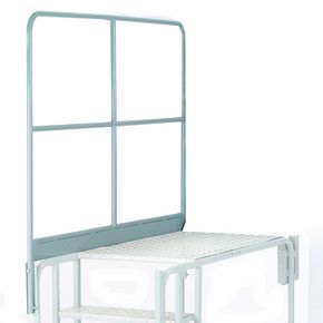 Universal platform optional galvanised side handrails