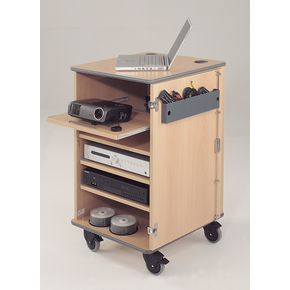 Secure multimedia projector mobile cabinets