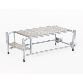 Mobile modular work platform with optional handrails