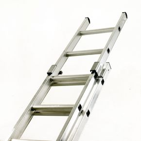 Industrial use box section aluminium ladders - Two section push-up