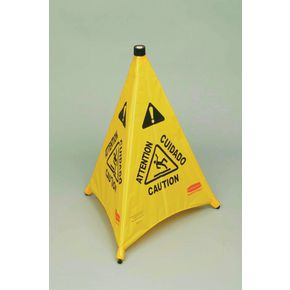 Rubbermaid pop up safety cone sign