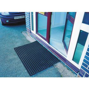 Rubber ring matting