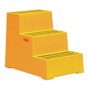 Heavy duty static plastic steps - Three step