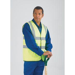 Hi-visibility sleeveless waistcoats