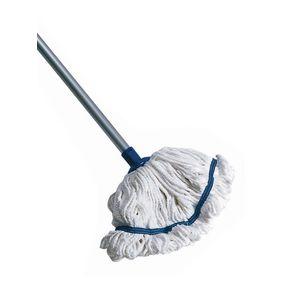 Hygiene socket mop with aluminium handle