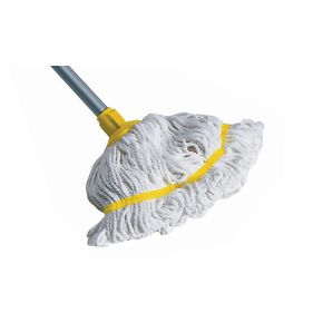 Hygiene socket mop with aluminium handle