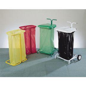 Colour coded sackholders freestanding open top