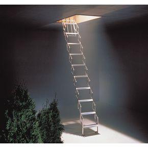 Standard aluminium concertina ladder, ceiling height 2520 - 2730mm