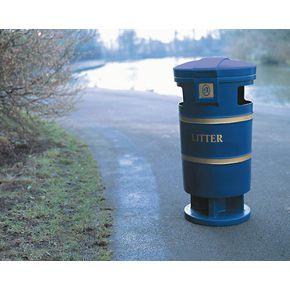 Outdoor plastic litter bins