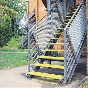 Stainless steel slip resistant floor cleats - Yellow