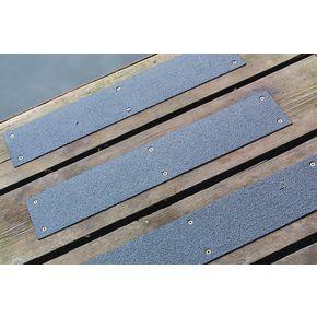 Stainless steel slip resistant floor cleats -  Black