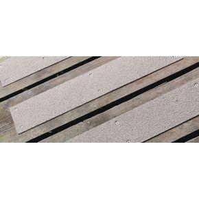 Stainless steel slip resistant floor cleats - Grey