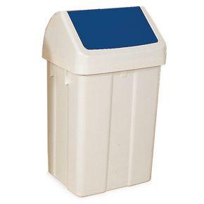 Coloured lid recycling swing bins