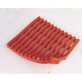Vynagrip® heavy duty slip resistant PVC matting - Red, 10m x 600mm roll