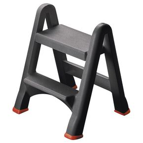Folding plastic step stool