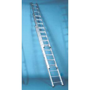 Extra heavy duty British standard aluminium ladders - Three section push-up