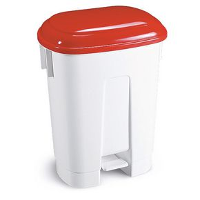 Pedal bins with coloured lids 60L
