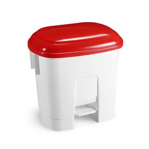 Pedal bins with coloured lids 30L