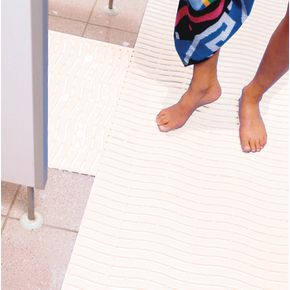 Leisure safety mat - White - Available as 15m roll, cut length or mat