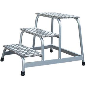 Static aluminium platform steps