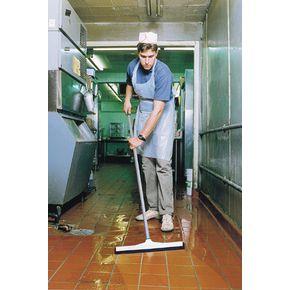 Aluminium handle floor squeegee