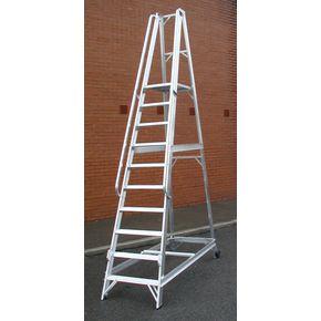 Aluminium warehouse steps - Choice of ten heights