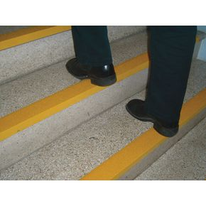 GRP slip resistant stair nosings - Yellow