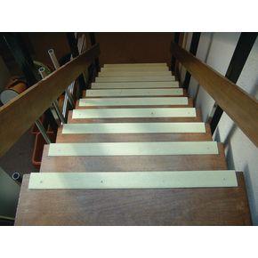 GRP slip resistant stair nosings - White