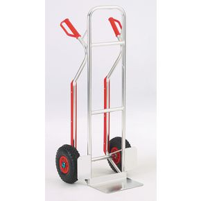 Lightweight aluminium sack truck with stair glides, capacity 110kg