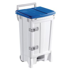 Front opening mobile hygiene sackholder pedal bin